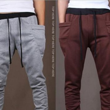 Mens Fashion Printed Casual Harem Sweat Pants Jogger Dance Taper Slacks Trousers = 5979108993
