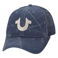 Men's True Religion Brand Jeans Spray Print Trucker Cap