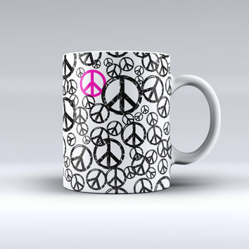 The Peace Collage ink-Fuzed Ceramic Coffee Mug