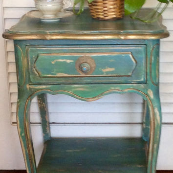 Shabby Chic French Style Vintage Nightstand