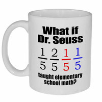 Dr. Seuss as a Math Teacher Coffee or Tea Mug