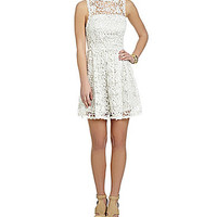 GB Sleeveless Lace Dress - Ivory