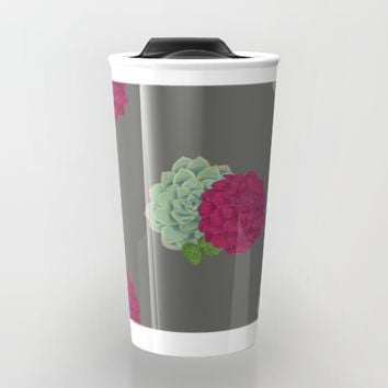 Succulent's & Hops Travel Mug by Brittany