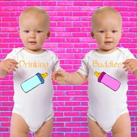 Drinking Buddies Gerber Onesuit ® Twin Set