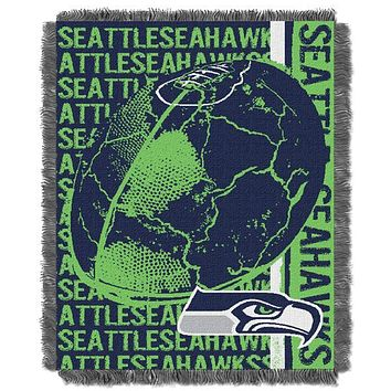 Seattle Seahawks NFL Double Play Woven Jacquard Throw