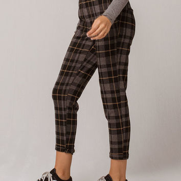 SKY AND SPARROW Plaid Trouser Womens Pants