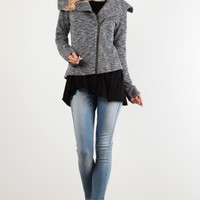 Charcoal Shawl Jacket