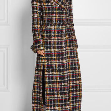 Alessandra Rich - Double-breasted metallic tweed coat