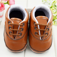 Unisex Baby Girls Boy Soft Sole Pram Crib Shoes Toddler Prewalker Leather Sneakers 0-18M UBY