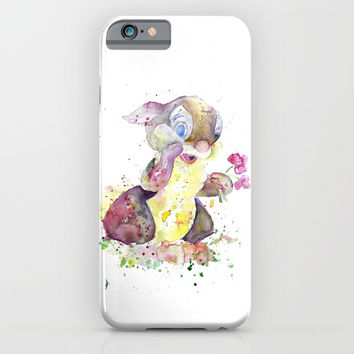 Thumper With Flowers iPhone & iPod Case by MIKART