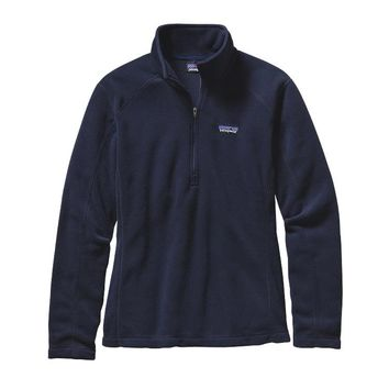 Patagonia Women's Micro D® Quarter Zip Fleece | Navy Blue