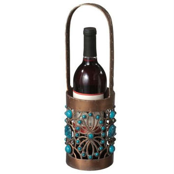 2 Wine Bottle Caddies - Southwestern Style