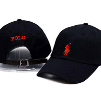 Red Polo Embroidery Sport Sunhat Baseball snapback cap Hat