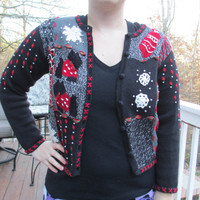 Tacky Christmas Sweater, Tacky Sweater, Ugly Sweater,  Scottie Sweater, Sweater Vest, knit sweater