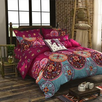 3D comforter bedding sets Mandala duvet Pillow cover set winter bed sheet Quilt Single/Double/King/Queen Size Bed linen cotton
