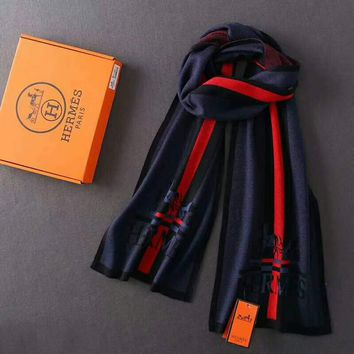 HERMES Men Tide brand leisure fashion scarf G-G-JGYF