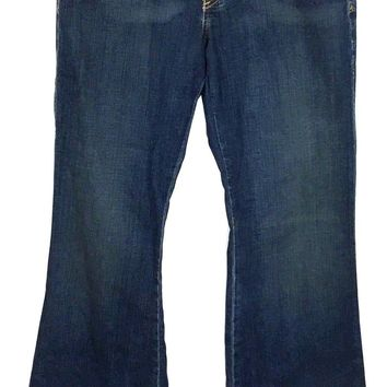 Adriano Goldschmied AG The Legend Flare Jeans Dark Wash Womens 32R Actual 32x34 - Preowned