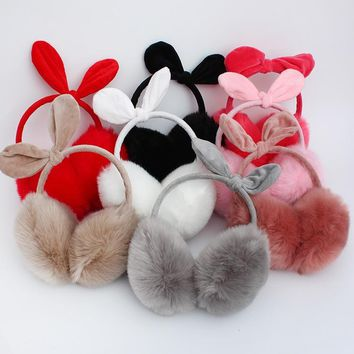 New Winter Earmuff Plush Women Fur Earmuffs Winter Ear Warmers Cartoon Cat Ear Style Large Plush Warm Earmuffs Ear Package