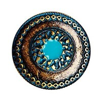 Persian Medallion Belt Buckle - AB & Turqoise