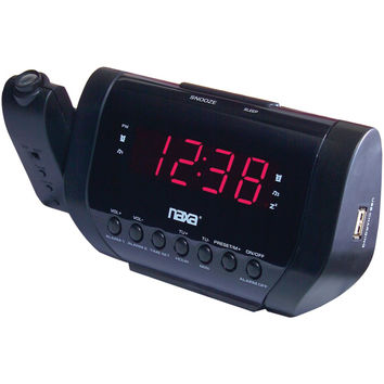 Naxa Projection Alarm Clock With Usb Charger