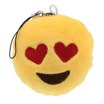 2016 new Cute Emoji Smiley Emoticon Heart Eyes Soft Toy Gift Pendant Bag Accessory Stuffed & Plush