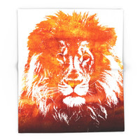 Society6 Red Lion Blanket