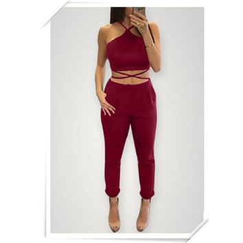 LMFOK3 FASHION HOT TWO PIECE JUMPSUIT