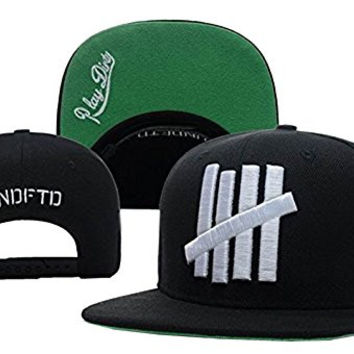 Undefeated 5 Strike Snapback Black Same Style Caps