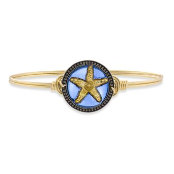 Starfish Intaglio Bangle Bracelet