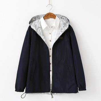 Trendy Coats Sale Real Jacket Women 2018 Latest Fall Korean Version Bomber Both Sides Wear Large Size Loose Fashionable Clothes AT_94_13