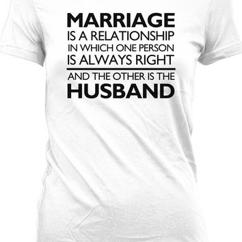 Funny Couple Shirt Gifts For Wife Marriage T Shirt Relationship Spouse Geekery Ladies Tee MD-218