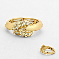 Crystal Love Knot Ring