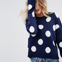 ASOS Sweater With Spots at asos.com