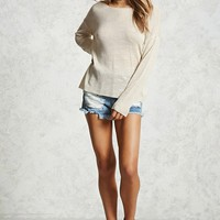 Slub Knit Caged-Back Sweater