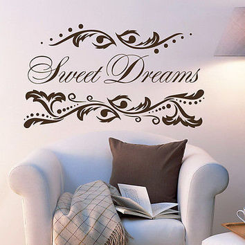 Wall Decals Quotes Sweet Dreams Decal Home Nursery Room Vinyl Decor Art MR540