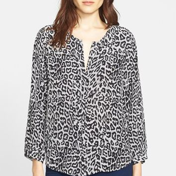Women's Joie 'Purine' Animal Print Silk Blouse,