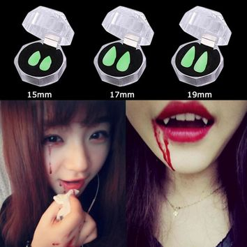 Luminous Horror Teeth Vampire Teeth Halloween Party Dentures Props Zombie Devil Fangs Tooth