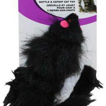 Ethical 2906 Spot Shaggy Plush Ferret With Rattle & Catnip Cat Toy