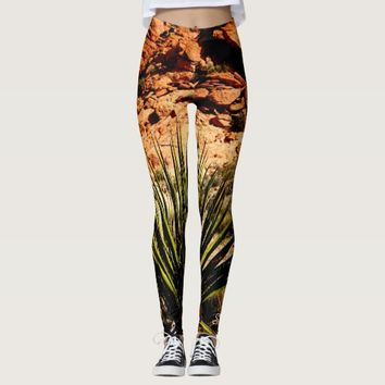 Southwest Leggings, Yucca Leaves Name Leggings