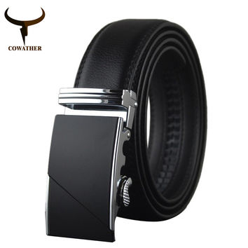 High Quality  Male New Brand Cowather Real Leather Eagle Belts for Men  Automatic Buckle Cowhide Leather Strap Eagle Design Belt