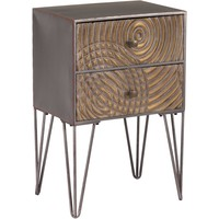 Brown Circulos End Table