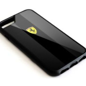 Scuderia Ferrari Carbon Black iPhone 5 5s 6 6s 7 8 Plus SE Hard Plastic Case