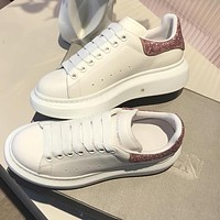 Alexander McQueen Trending Woman Casual Leather Sneakers Sport Shoes
