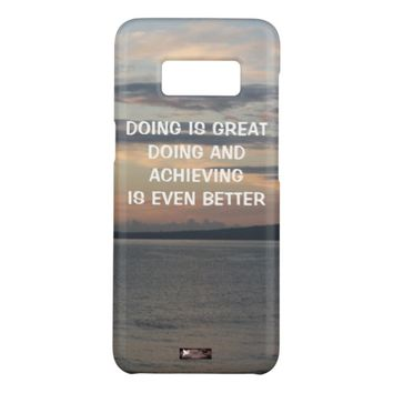 Achieving Photo Quote by Kat Worth Case-Mate Samsung Galaxy S8 Case