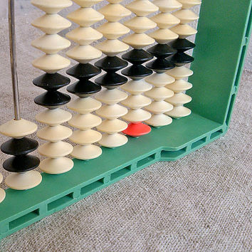 1960 Vintage plastic abacus, school abacus, plastic abacus, finding, found object art, Vintage, Home decor, geek, Something Old, Organic,
