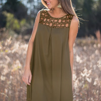 Feels Like Home Dress, Olive