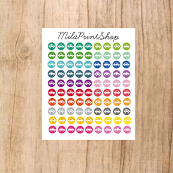 Tiny Car Die Cut Planner Sticker ,90 stickers per sheet