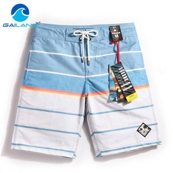 Men's Striped Quick Drying Swimming Trunks