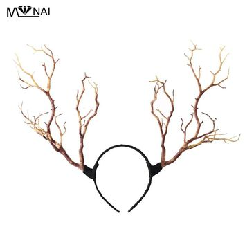 Gothic Retro Tree Branches Headband Props Horns Hair Accessory Steampunk Cosplay Halloween Party Headpieces Accessories Vintage