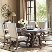 7-pc La Tourelle Rectangle Dining Room Table Set